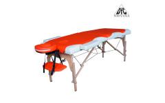 Массажный стол DFC NIRVANA, Relax, дерев. ножки, цвет оранж.крем.