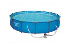 Бассейн каркасный круглый 427 х 84 см +фильтрующий насос (220-240В) 56595
