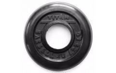 Диск обрезиненный черный 1,25 кг (51 мм)